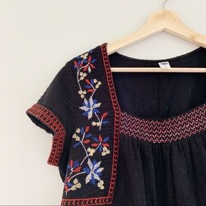 old navy | embroidered dress
